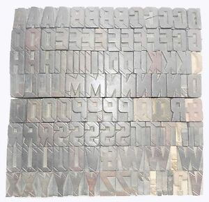 112 Piece Vintage Letterpress Wood Wooden Type Printing Blocks 33 M m bc 1834
