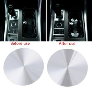2 Pcs Cup Holder Cover Mat Trim For Range Rover Sport Vogue Discovery Universal