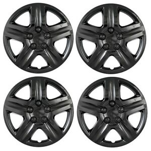 New 2010 2011 2012 Ford Fusion 17 Black Hubcap Wheelcover Set Of 4