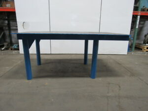 1 2 Thick Top Steel Fabrication Layout Welding Table Work Bench 84 x48 x36