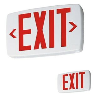 Lithonia Lighting Quantum Univeral Mount Led Emergency Exit Sign 2 Panel Battery