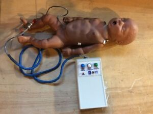 Simulaids Infant Baby Pediatric Cpr Bonnie Full Body Manikin African Remote