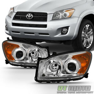 For 2009 2010 2011 2012 Toyota Rav4 Rav 4 Projector Headlights Lamps Left right
