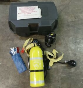 Drager Scba Air Mask Self Contained Breathing Apparatus W case Pa 80 22