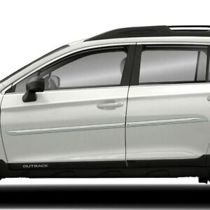 Body Side Moldings Painted With Chrome Trim Insert For Subaru Outback 2010 2018