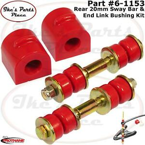 Prothane 6 1153 Rear 20mm Sway Bar Bushings End Link Kit For 00 06 Ford Focus