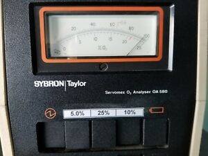 Servomex Paramagnetic O2 Analyzer Calibrated With 3 Ranges Oxygen Analyzer