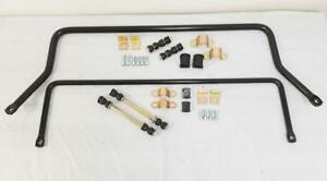 1963 1972 Chevy C10 Pickup Truck Black Steel Front And Rear Sway Bar Kit