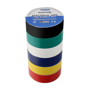 3 4in X 30ft Ul listed Electrical Tape Multi color Pack Of 6