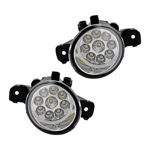 1 Pair 4 Inch 9 led Fog Lights For Nissan Altima Maxima Pathfinder Rogue Sentra