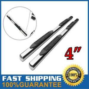 4 Chrome Side Step Nerf Bars Running Boards For 99 13 Chevy Silverado Ext Cab