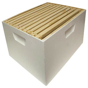 Beekeeping Assembled Deep Super 10 Frame Foundation Beehive Honey Bee Garden Nuk
