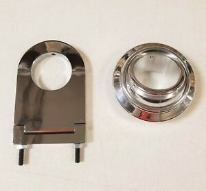Universal 2 Swivel Base Floor Mount 3 1 2 Chrome Steering Column Drop Kit