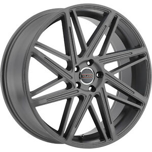 22x9 Gray Milanni Blitz 9062 Wheels 5x115 38 Fits Chevrolet Equinox