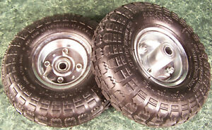 2pc 10 Inch Air Inflatable Rubber Wheels With Rim Dolly Tire Wheel 5 8 Hub New