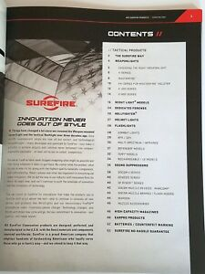 Surefire Tactical 2017 Product Catalog Booklet NEW $5.59
