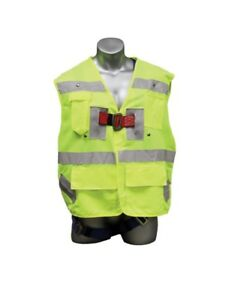 Elk River 55394 Freedom Safety Green Vest Harness Three D ring Rings M xl