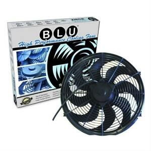 16 Inch Zirgo Blu Electric S Blade Radiator Cooling Fan 3000 Cfm Street Rod