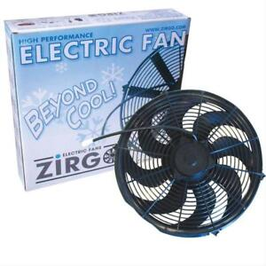 14 Inch Zirgo Blu Electric S blade Radiator Cooling Fan 2122 Cfm Street Rod