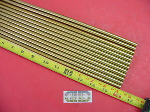 12 Pieces 5 16 C360 Brass Solid Round Rod 16 Long H02 312 Od Lathe Bar Stock