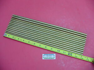 12 Pieces 5 16 C360 Brass Solid Round Rod 14 Long H02 Lathe Bar Stock 312 Od
