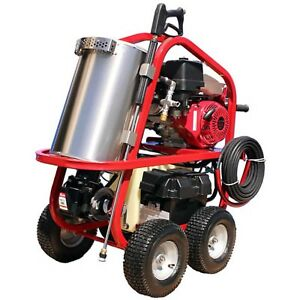 Portable Hot Water Pressure Washer 3500 Psi 3 Gpm 10hp Gas Diesel Heated