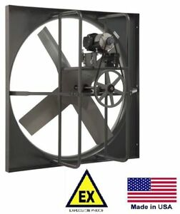 24 Exhaust Panel Fan Explosion Proof 115 230 Volts 1 Phase 4 900 Cfm