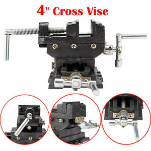 4 Cross Drill Press Vise Slide Metal Milling 2 Way X y Clamp Machine Heavy Duty