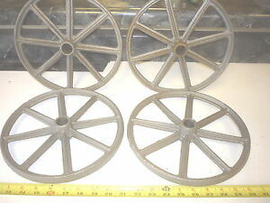 4 Old Style Toy Wagon Craft Maytag Gas Engine Cart Wheel 8 Spoke