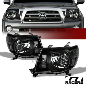 For 2005 2011 Toyota Tacoma Black Clear Housing Headlights Corner Signal Lamp Nb