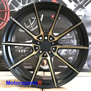 Xxr 567 Wheels Black Bronze 18x9 5 10 5 20 Staggered Rims Fit Nissan 350z Nismo