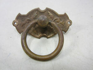 Antique Brass Post Ring Drawer Pull 600