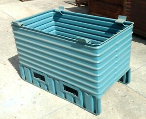 Steel Tub Stacking 37 X 54 Parts Bin Storage Forklift Stackable Container