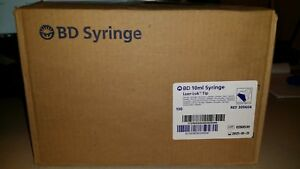 100 Bd 309604 Luer lok Tip Syringes 10ml Surgical Medical Nurse Training Vet Lab
