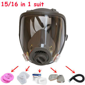 Full Face Facepiece Dust Gas Mask Suit For 6800 Respirator Paint Spraying Safety