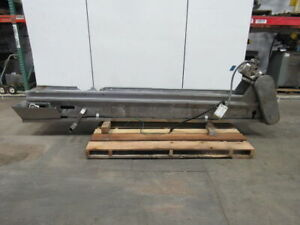 Cleated Stainless Steel Small Parts Conveyor 132 x12 93fpm Incline Food Grade