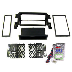 Radio Replacement Dash Mounting Kit Double Single Din Wire Harness For Suzuki