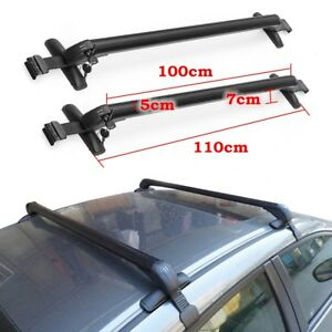 2x Universal Car Top Cargo Luggage Roof Rack Cross Bar Carrier Adjustable Frame