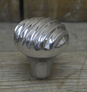 Vtg Style Finned Aluminum Shift Knob Hot Rod Custom Chopper Suicide Shifter Nob