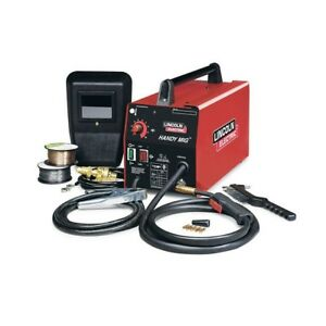 Mig Welder Lincoln Power Machine Kit Electric Flux Core Gas Hand Shield Stick