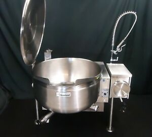 Low Profile Steam Jacketed Tilt Kettle Cleveland Gas 40 Gallon Kgl 40tsh Perfect