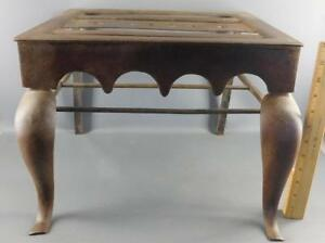 Antique Wrought Iron Fireplace Hearth Trivet Stool Bench Stand Dated 1898