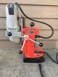 Milwaukee 4203 Electromagnetic Drill Press With 4297 1 Drill Motor 1 1 4hp