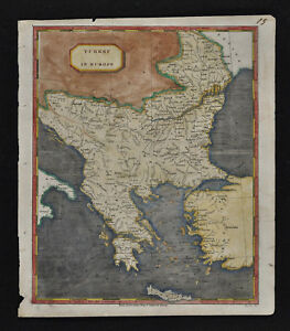 1804 Arrowsmith Map Turkey Europe Greece Balkans Rumania Serbia Bosnia Bulgaria