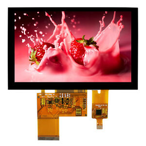 5 Lcd Screen With Capacitive Touch Panel 800x480 40pin Lcd Display