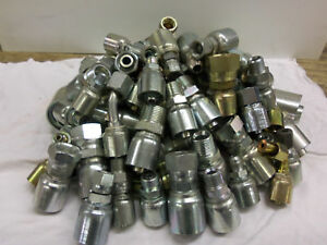Hydraulic Hose Fittings Goodyear Continental Alfagomma Mixed Lot Of 67
