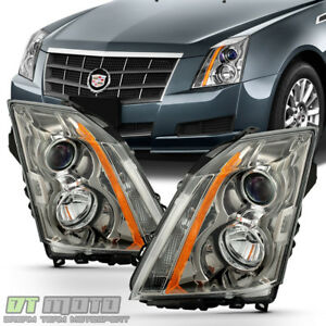 2008 2009 2010 2011 2012 2013 Cadillac Cts Headlights Halogen Headlamps W Bulbs