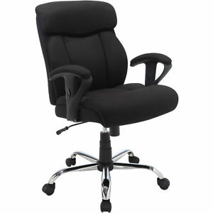 Big And Tall Manager Chair Black Mesh Fabric Serta Office Furniture Computer New