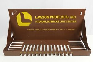 Lawson Products Metal Brake Line Hanging Shelf For Garage Oil Cans Display 19 5