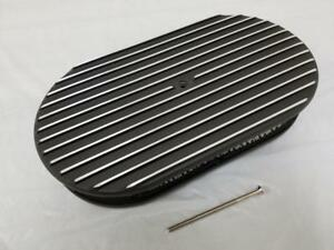 15 X 2 Nostalgic Heavy Duty Finned Black Aluminum Oval Air Cleaner Chevy Ford